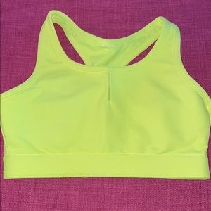 Fabletics Neon Yellow Sports Bra